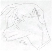 Kinda looks like Heero Yuy from GW. Ever since I did this pic. I could never do profile shots again.